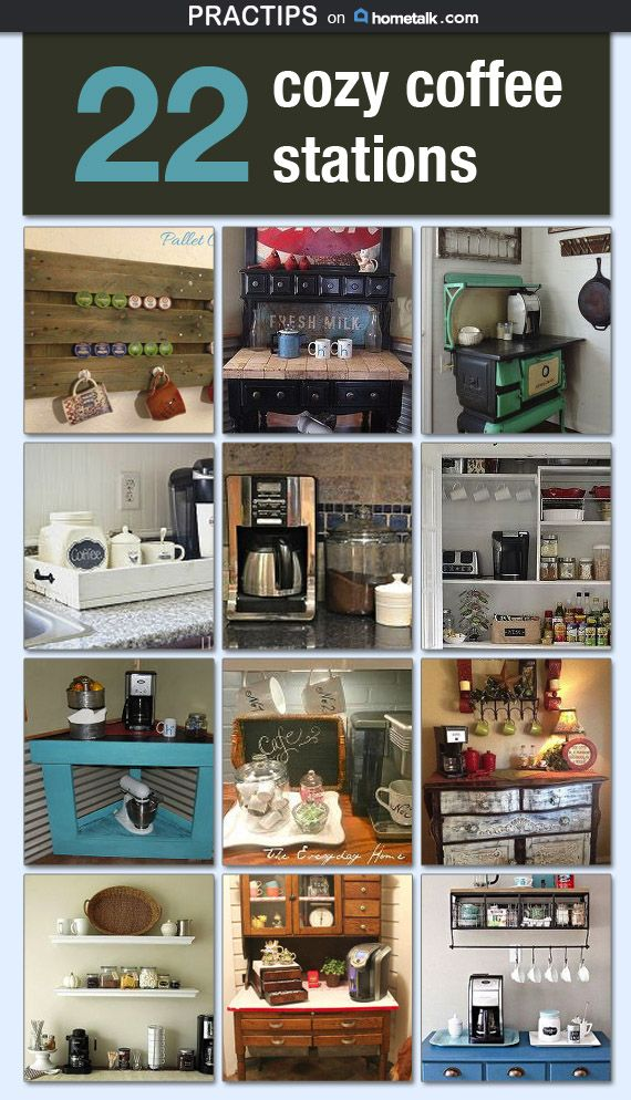 22 cozy coffee stations