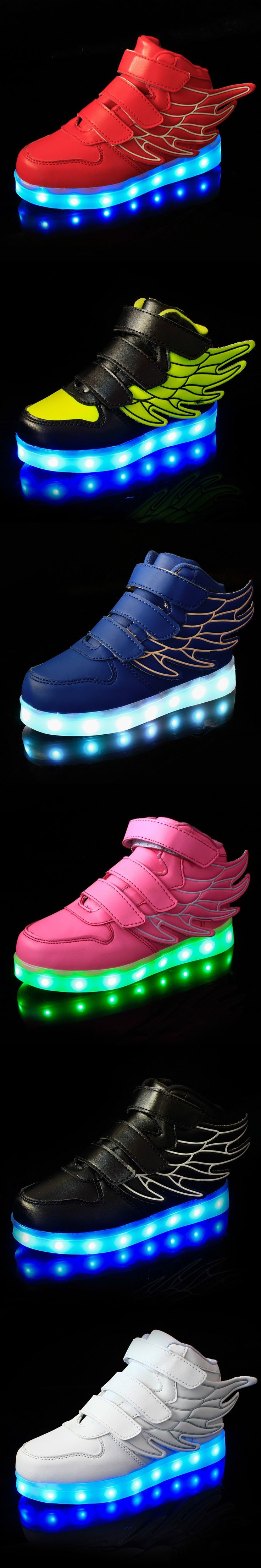 2016 New European fashion cute LED lighting children shoes hot sales Lovely kids sneakers high quality cool boy girls boots $22.98