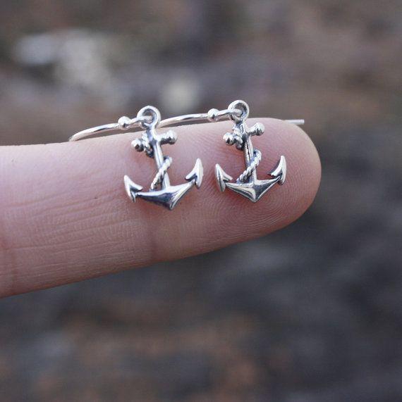 Sterling Silver boucles d'ancrage  Womens bijoux. par sevgicharms