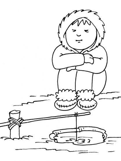 kleurplaten thema eskimo s voor kleuters polar theme