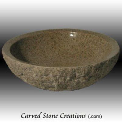 104 Best Carved Stone Sinks Images On Pinterest Bathrooms The Picture And Vessel Sink