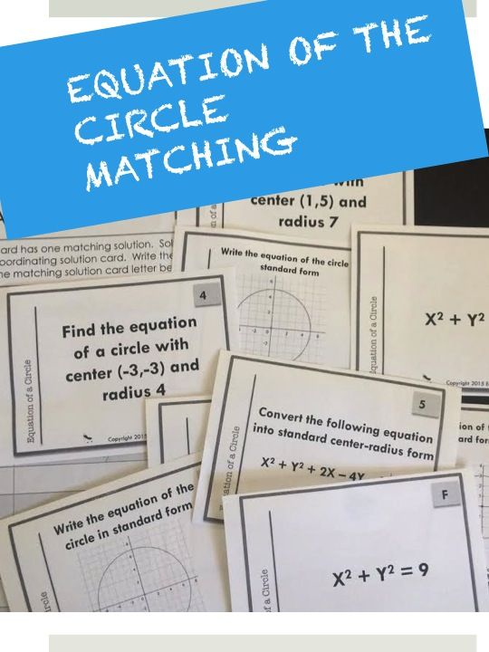Practice equation of circle with this set of activities ...