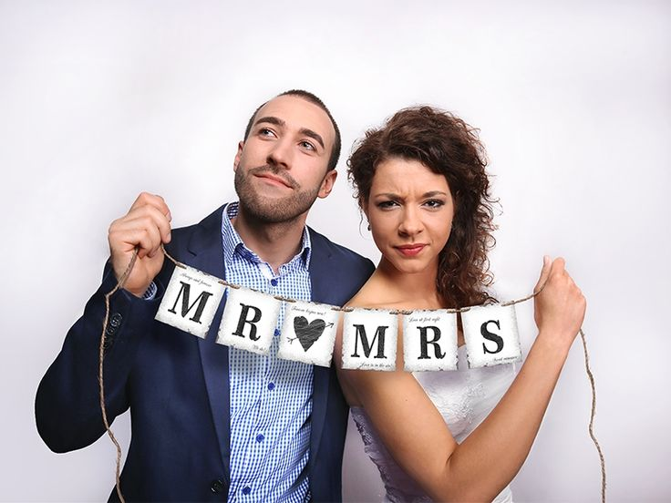 MR MRS Banner, PartyDeco.eu