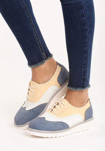 Pantofi Oxford Hema Albastri