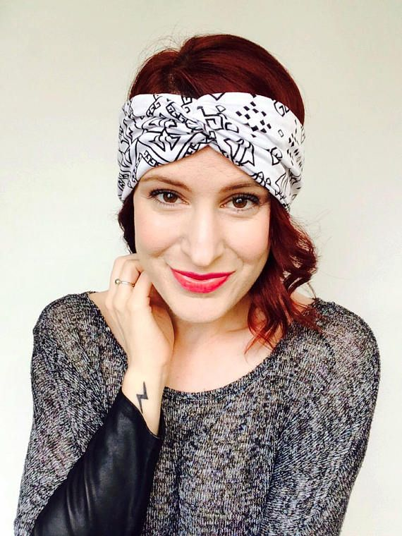 Adult Turban, Greek Headband, Symbol Head Scarf, Fitness Headband, Unique  Turban,