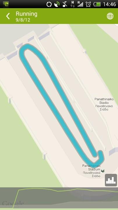 Running the Panathenaic stadium!