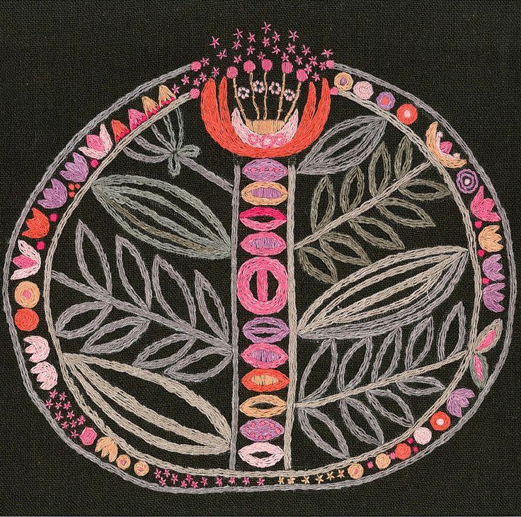 """Embroidery """"Tamara"""" design Gunilla Schildt, 1960."""