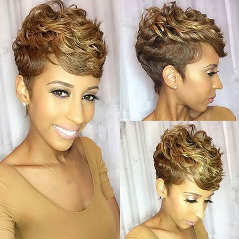 STYLIST FEATURE| Love this blonde #pixiecut✂️ on @abraweeks styled by #AtlantaStylist @StylesbyCorieb Gorgeous color #VoiceOfHair ========================= Go to VoiceOfHair.com ========================= Find hairstyles and hair tips! =========================
