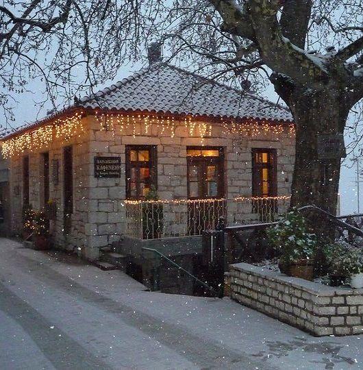 Ano Doliana at Christmas, Arcadia, Greece