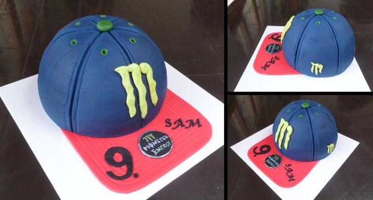 dort - kšiltovka Monster Energy / cake - Monster Energy Cap