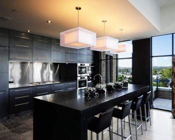 Modern Stainless Steel Kitchen Backsplash Design