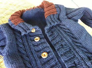 Hallows Baby Cardigan - free pattern on Ravelry