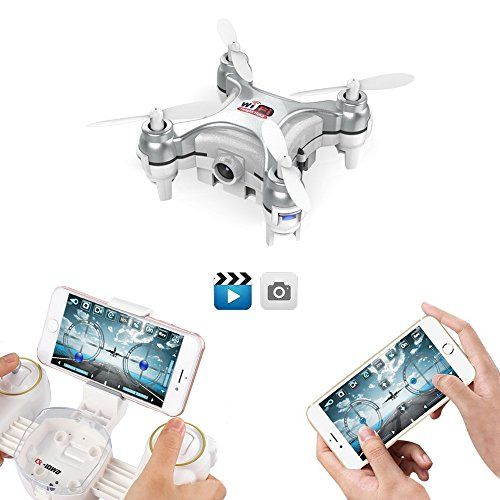 GoolRC Wifi FPV Mini Drone With Camera Live Video 3D Flips High/Low Speed High Hold Mode One Key Return Smallest RC Quadcopter