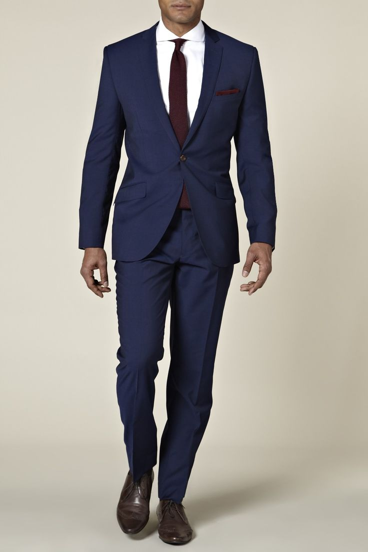 Bespoke Electric Blue Mohair Suit from Moss Bros