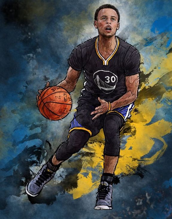 Stephen Curry 'Keep It Moving' Illustration