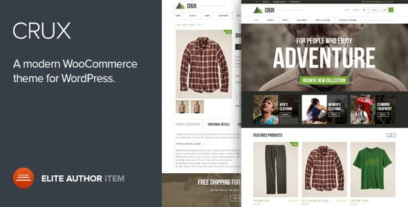 ThemeForest - Crux - A modern and lightweight WooCommerce theme Free Download