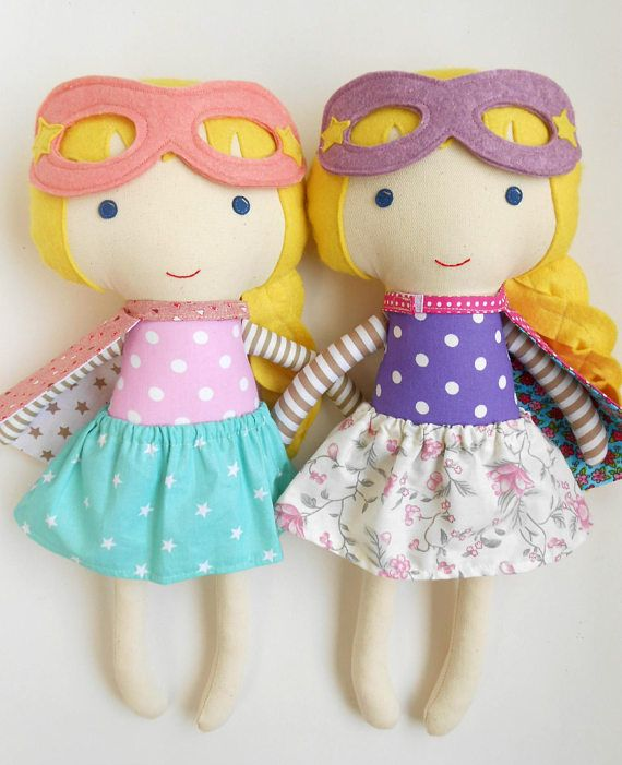 Superhero girl dolls wonder women rag dolls 2 peas in a pod