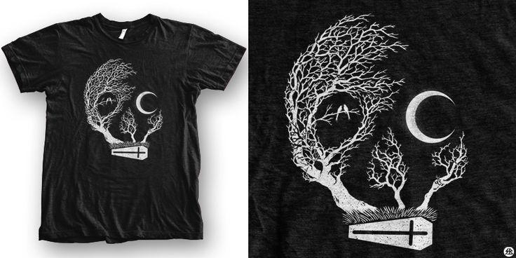 """friday night"" t-shirt design by sebrodbrick"