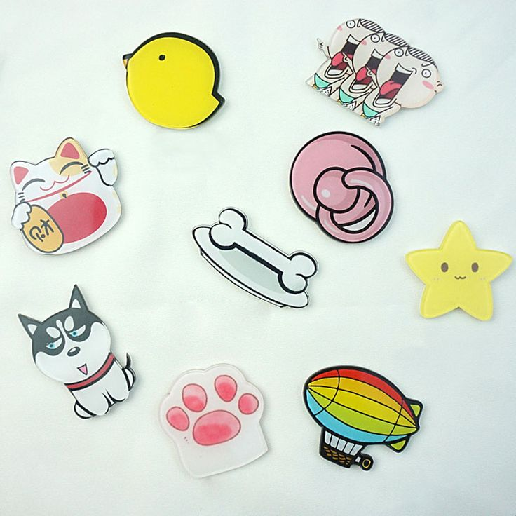 1 UNIDS Envío Libre Harajuku Insignia Pin Animal Estrellas Broche Globo Mochila Insignias