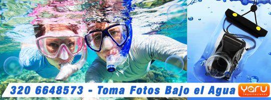 Estuche Sumergible para tomar fotos bajo el agua, Funda Acuatica para Camaras