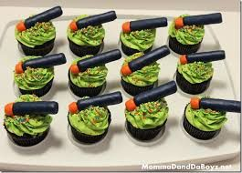 Image result for nerf gun cakes