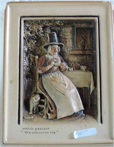 """Antique - Welsh Peasant """"The Afternoon Cup"""""""
