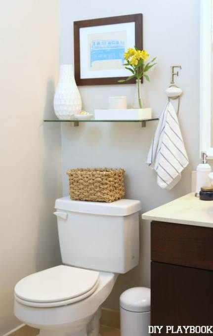 29 New Ideas for bathroom shelf above toilet storage ideas powder rooms   – •• BATHROOM ••