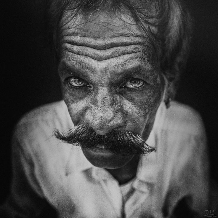 Heavy mustache - Gypsy man from Jaipur, Rajasthan, India