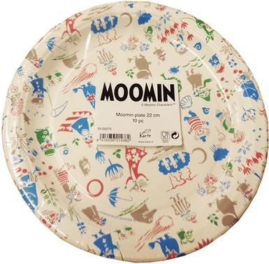 Moomin multicoloured paper plates 22 cm - funky little people - quality Scandinavian organic kids clothes, gifts and Moomin products