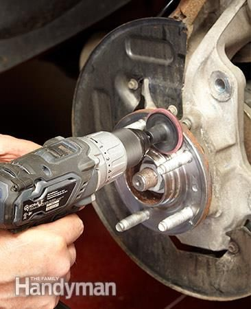 Polish the wheel hub of the brake pads and then coat it with nickel anti-seize. How to Change Front Brake Pads: http://www.familyhandyman.com/automotive/car-brakes/how-to-change-front-brake-pads/view-all