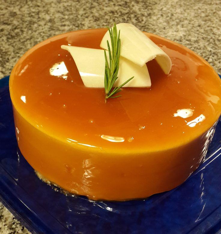 Caramel mousse, with rosemary bavaroise
