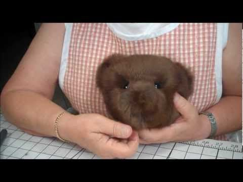 Part 11 Making a Jointed Fur Teddy Bear - The Eyes - YouTube