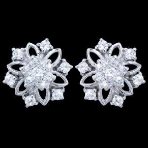 Flower stud earrings, gentle and ellegant!