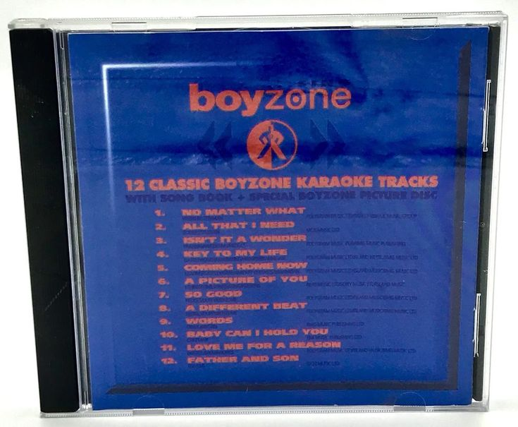 Sing Boyzone Cd 12 Classic Boyzone Karaoke Tracks With Song Book & Picture Disc