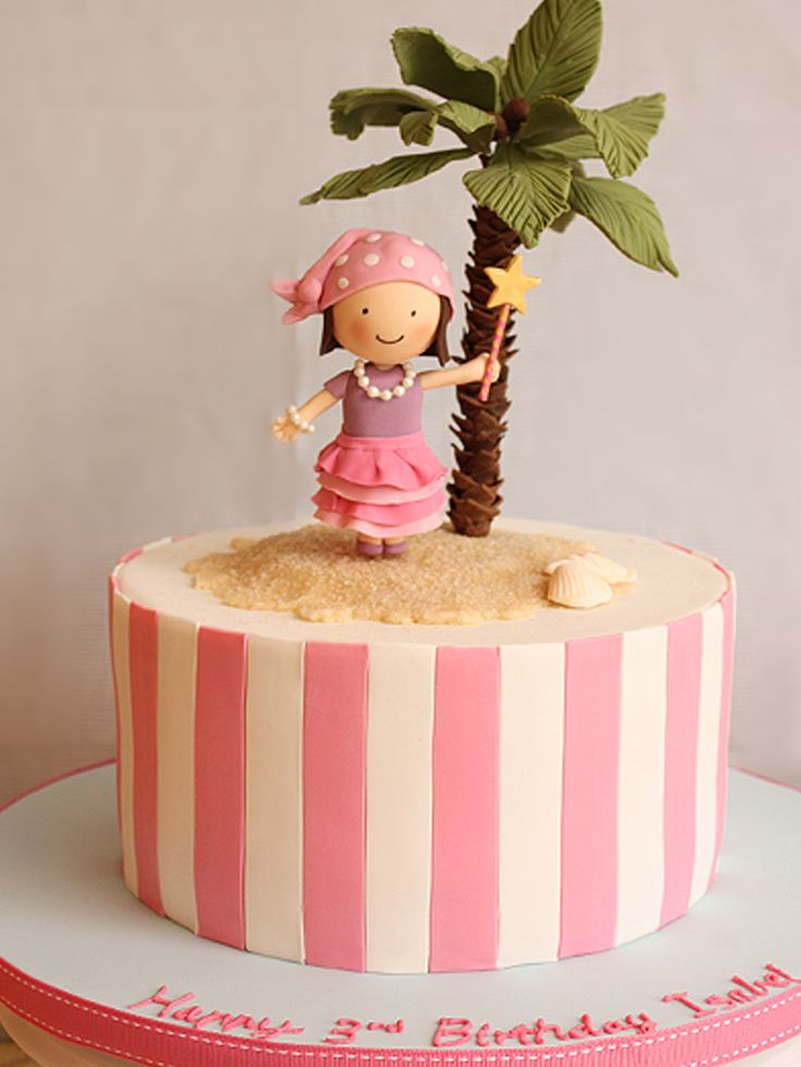 pirate girl desert island cake- Love this idea
