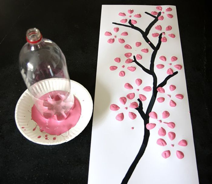 Japanese-style painting in 30 seconds - a great idea child's play - Recycle