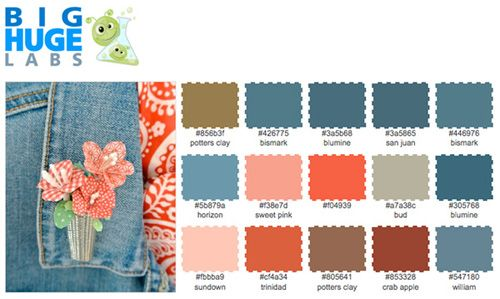 create your own swatches forprojects with online photo color generators.