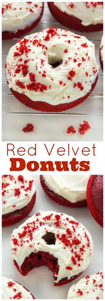 Red velvet donuts topped with cream cheese frosting! Bonus: They're ready in just 20 minutes.