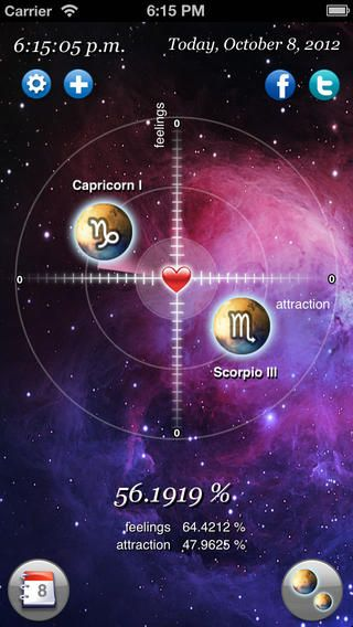 Astro Love Free - Realtime Calculator! This application calculates for every moment your opportunities to meet love in terms of both attraction and feelings.The closer the signs are the more favorable the stars are. Do NOT miss the perfect moment! #zodiac #horoscope #astrology #ComboApp #Choice #app #free