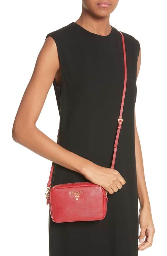 f6632cbb3851 Prada Saffiano Leather Camera Bag   Nordstrom   Bag Lady in 2019 ...