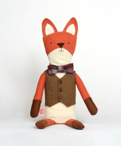 Henry the Fox - Walnut Animal SocietyAnimal Baby, Bows Ties, Henry, Toys, Baby Animal, Foxes, Stuffed Animal, Walnut Animal, Animal Society