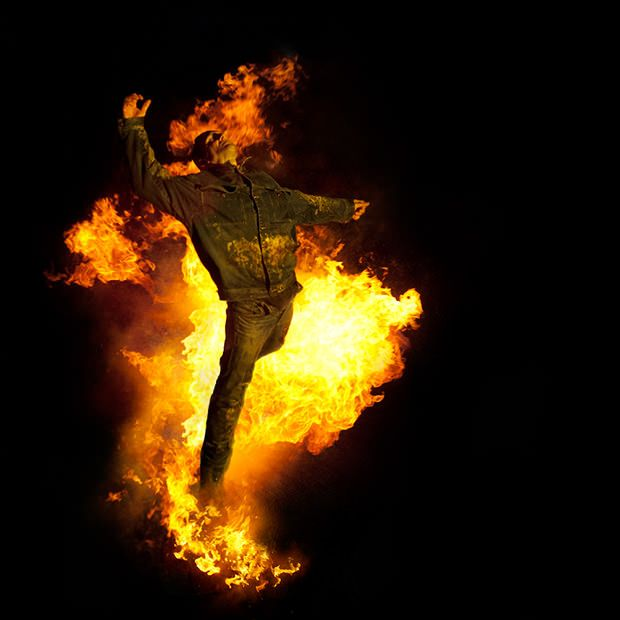 Montreal-based photographer Benjamin Von Wong wanted to capture the image of a man on fire, so he did the only reasonable thing: He set a man on fire.