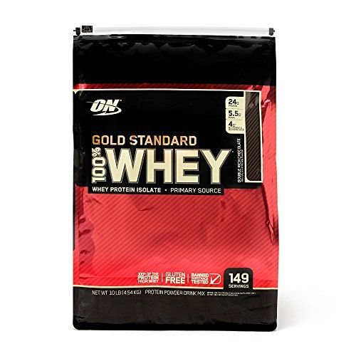 Optimum Nutrition 100 Whey Protein Gold Standard - Double Rich Chocolate 10 lb  Microfiltered Whey Protein Isolats  Ion-Exchanged Whey Protein Isolates  Ultrafiltered Whey Protein Concentrate  HYDROWHEY® Hydrolyzed Whey Peptides  Packed with Whey Protein Isolates (WPI)