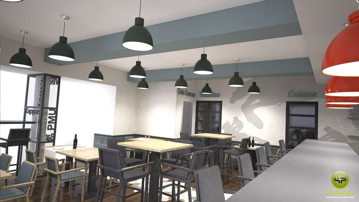 BAR PMU Rives - Isère (38) / Phase Concept // Création - Aménagement /// réalisé par CADYPSO (Architecture d'intérieur - Agencement Magasins - ERP - Particuliers)