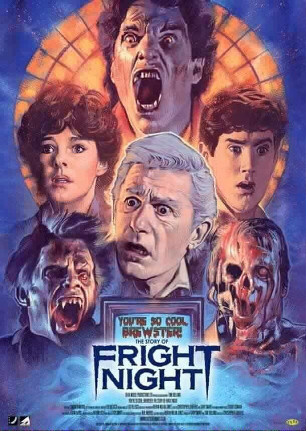 80's horror classic movie poster- Fright Night