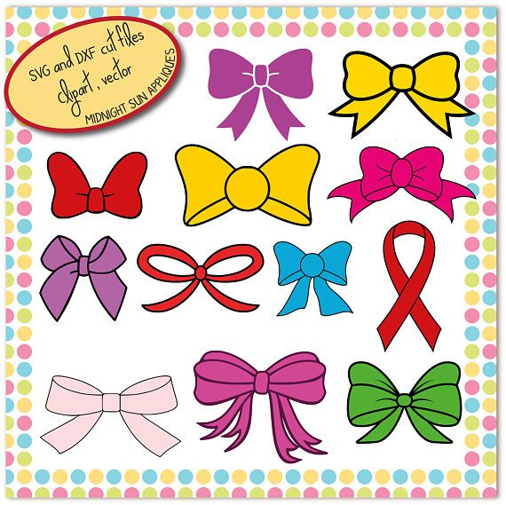 Bow SVGbow cut file bow vinyl cut svg for girls ribbon