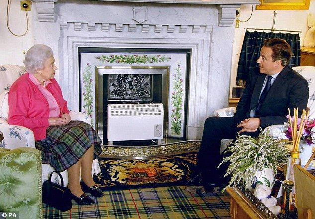 Just 11 days before the Scottish referendum on independence, David Cameron stayed at Balmoral for his annual late summer weekend with the Queen (pictured) and was said to be extremely tense about the forthcoming vote amid fears he might end up being responsible for dividing the United Kingdom