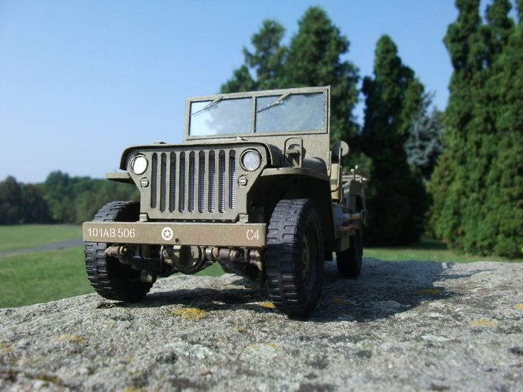 Willys MB Jeep paper model scale 1:25