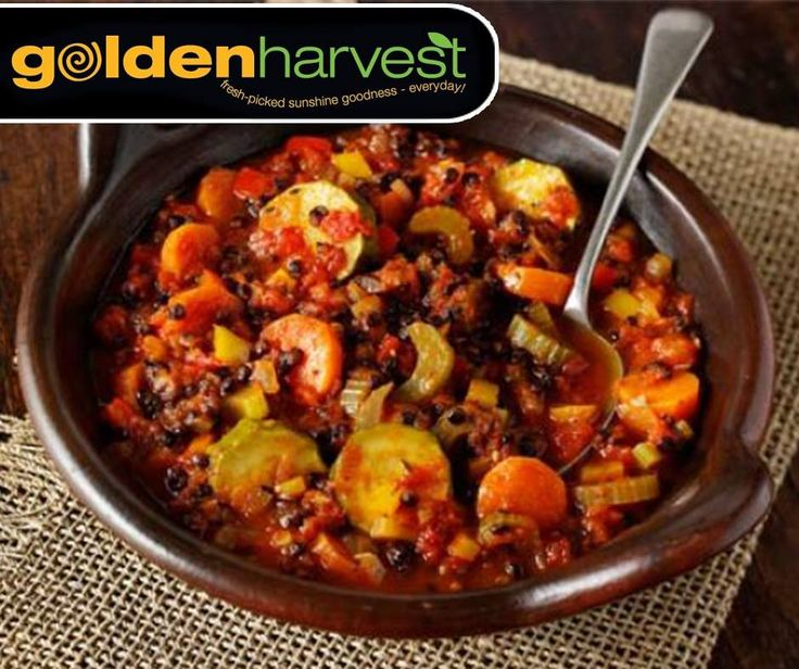 Few things warm the heart better than a bowl of chunky casserole, but a substantial stew doesn't need to contain meat. For the full recipe on this meatfree Casserole, click here: http://ablog.link/472. #GoldenHarvest #MeatfreeMonday