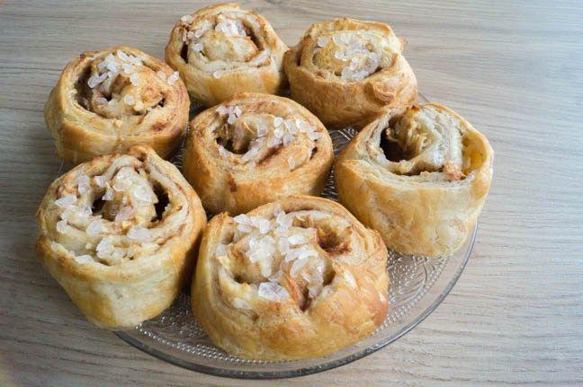 Gemakkelijke Appel/Kaneel Rolletjes (met croissantdeeg gemaakt)
